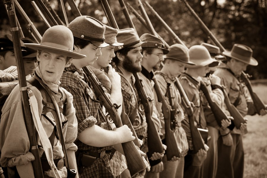 Civil War Re-Enactment image
