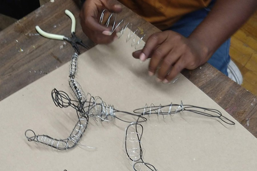 Sculpture: Artistic Expression in Wire & Plaster image