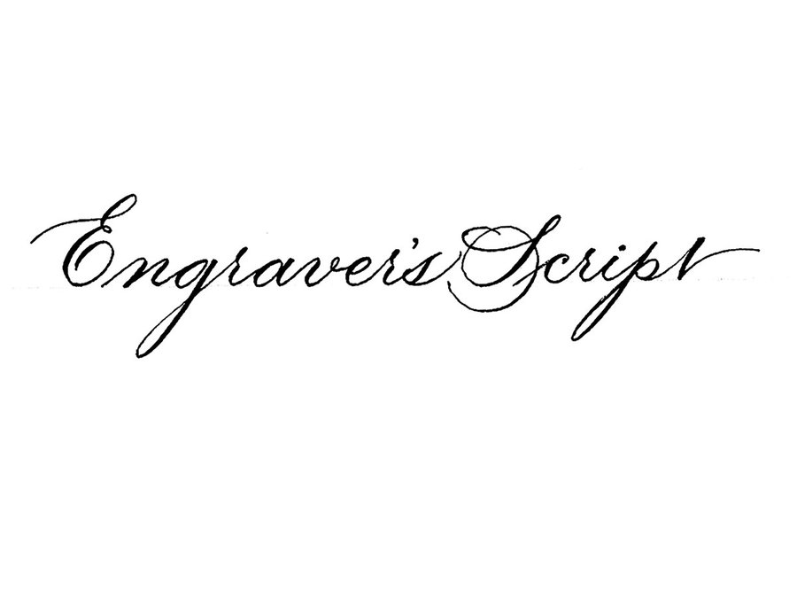 Calligraphy: Engraver's Script image