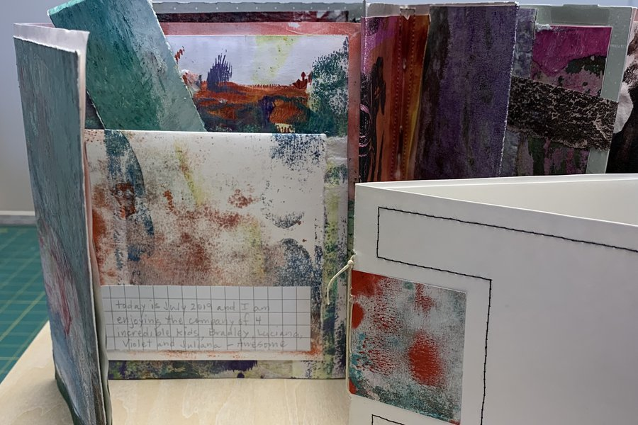Print to Pages: Gelli Plate Printing image